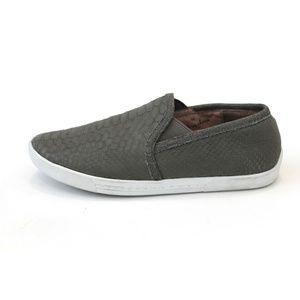 NEW Joie Slip On Sneakers Gray Snakeskin Size 5